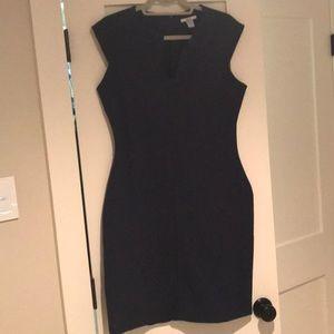 Bar III blue work dress